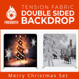 Merry Christmas Set12 Double Sided Tension Fabric Photo Booth Backdrop
