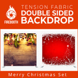 Merry Christmas Set14 Double Sided Tension Fabric Photo Booth Backdrop