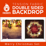 Merry Christmas Set17 Double Sided Tension Fabric Photo Booth Backdrop