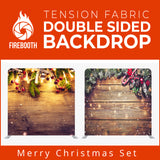 Merry Christmas Set19 Double Sided Tension Fabric Photo Booth Backdrop