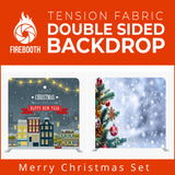 Merry Christmas Set24 Double Sided Tension Fabric Photo Booth Backdrop