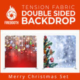 Merry Christmas Set25 Double Sided Tension Fabric Photo Booth Backdrop
