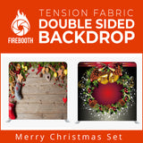 Merry Christmas Set2 Double Sided Tension Fabric Photo Booth Backdrop