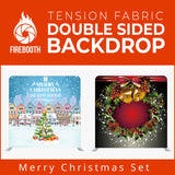 Merry Christmas Set7 Double Sided Tension Fabric Photo Booth Backdrop