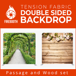 Passage and Wood Set1 Double Sided Tension Fabric Photo Booth Backdrop