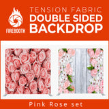 Pink Rose Set Double Sided Tension Fabric Photo Booth Backdrop