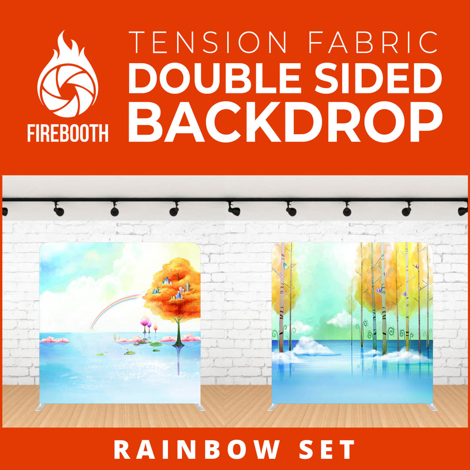 Rainbow Set-1 Double Sided Tension Fabric Photo Booth Backdrop