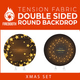 Xmas Set-03 Double Sided Round Tension Fabric Photo Booth Backdrop