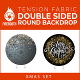 Xmas Set-01 Double Sided Round Tension Fabric Photo Booth Backdrop