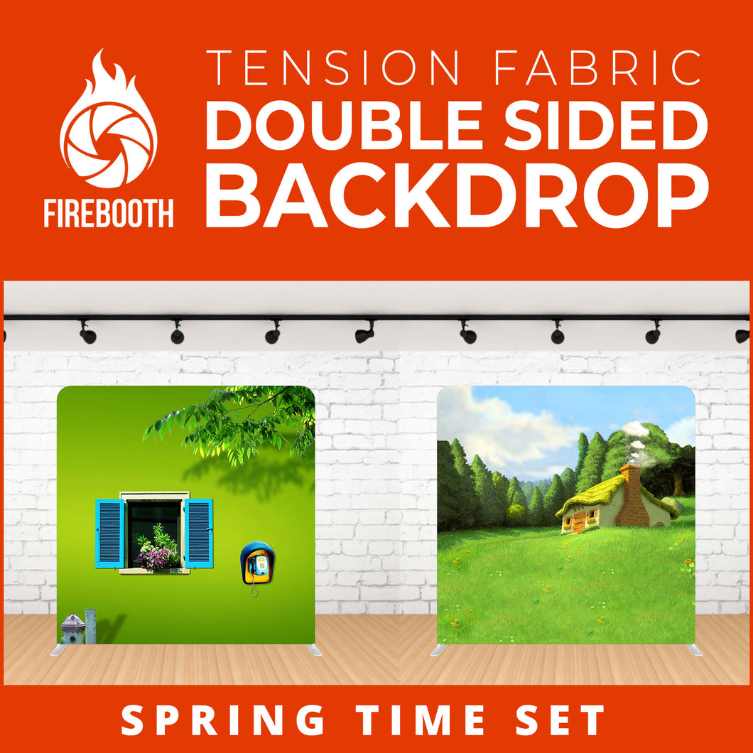 Spring Time Set Double Sided Tension Fabric Photo Booth Backdrop