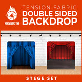 Stege Set Double Sided Tension Fabric Photo Booth Backdrop