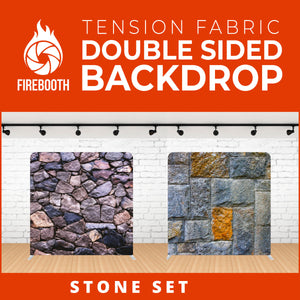 Stone Set-1 Double Sided Tension Fabric Photo Booth Backdrop