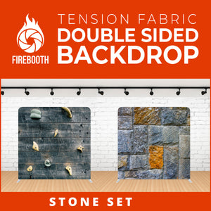 Stone Set Double Sided Tension Fabric Photo Booth Backdrop