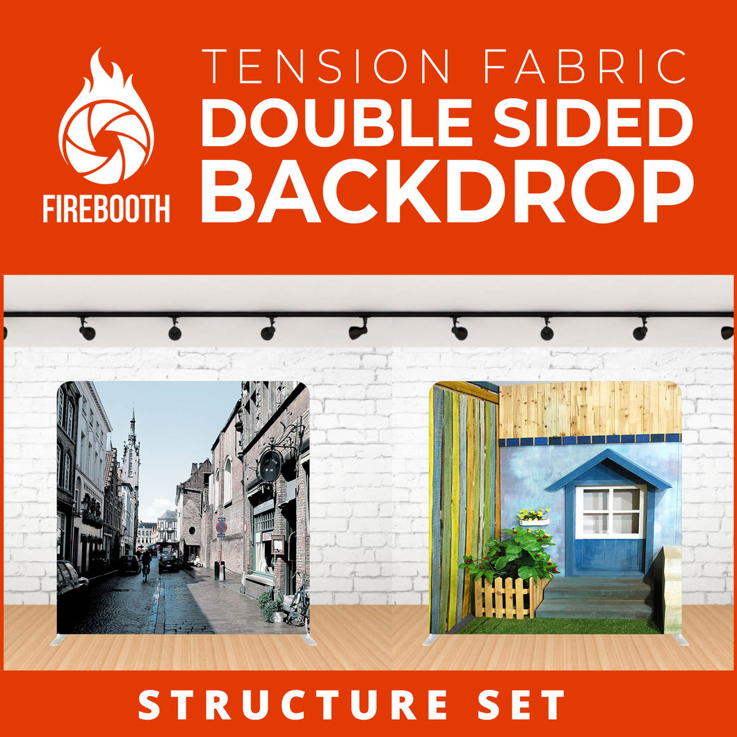 Structure Set Double Sided Tension Fabric Photo Booth Backdrop