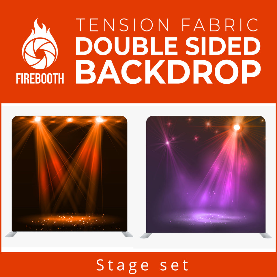 Stage Set2 Double Sided Tension Fabric Photo Booth Backdrop
