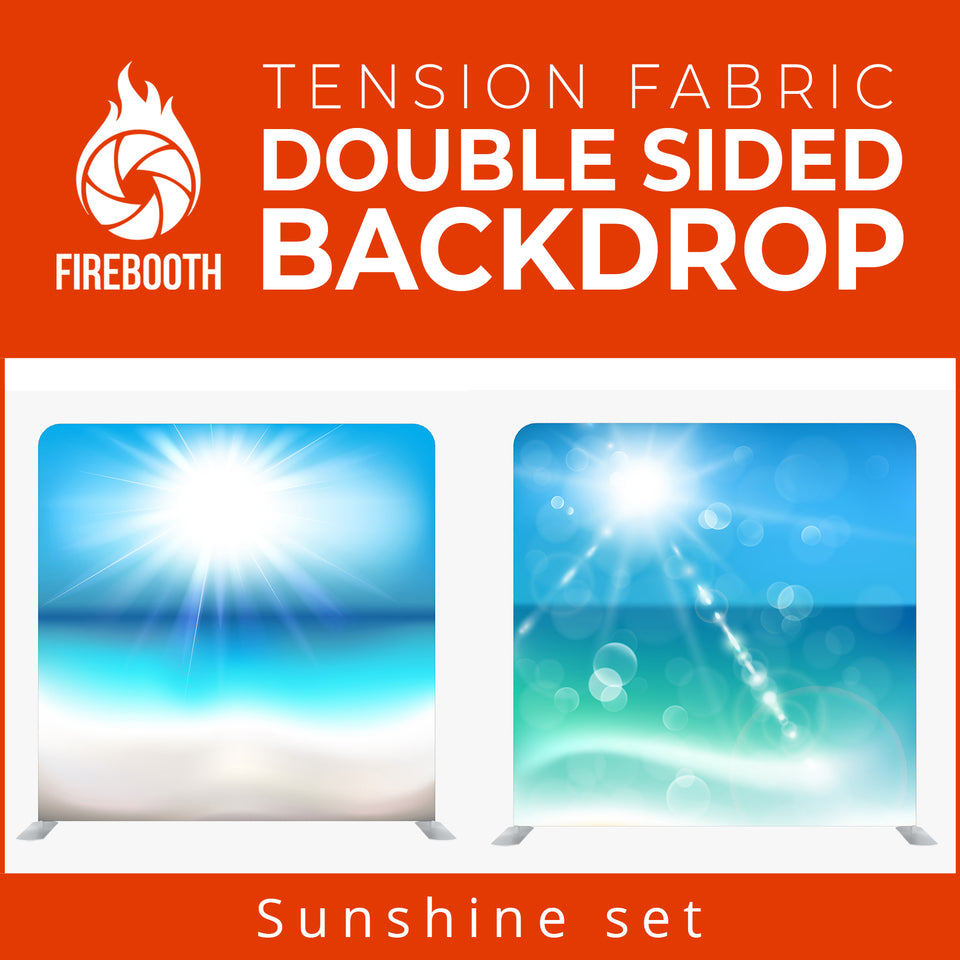 Sunshine Set Double Sided Tension Fabric Photo Booth Backdrop
