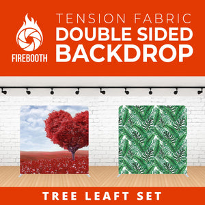 Tree Leaft Seat Double Sided Tension Fabric Photo Booth Backdrop