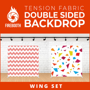 Wing Set Double Sided Tension Fabric Photo Booth Backdrop