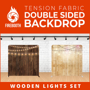 Wooden Lights Set-7 Double Sided Tension Fabric Photo Booth Backdrop