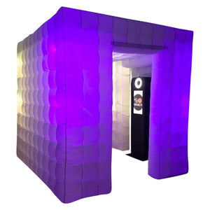 White LED Inflatable Photo Booth Cube Enclosure