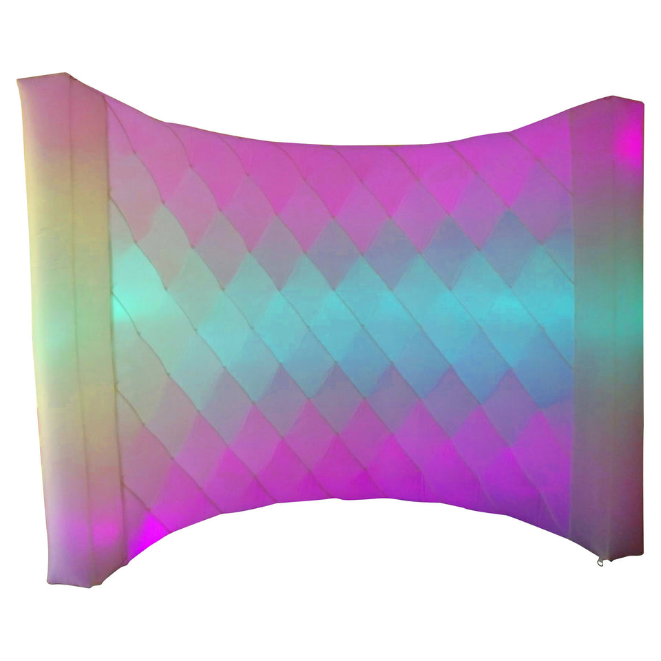 White LED Inflatable Photo Booth Diamond Wall