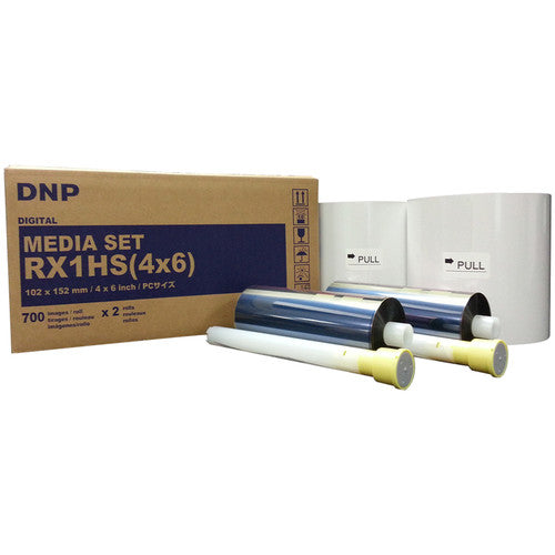 "DNP 4 x 6"" Media Set for DS-RX1HS (2 Rolls)"