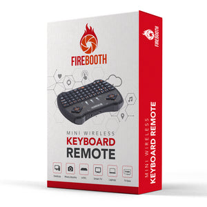 (Upgraded Backlit Version) FireBooth Mini Wireless Keyboard Remote with Touchpad Mouse for Photo Booths, Portable LED Backlit Keyboard for Laptop PC, Tablets, Windows, Mac, TV, Xbox, PS3, Photo Booths