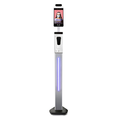 Non-Contact AI Thermal Scanner Thermometer Kiosk with Hand Sanitizer Dispenser (Upgraded Version)