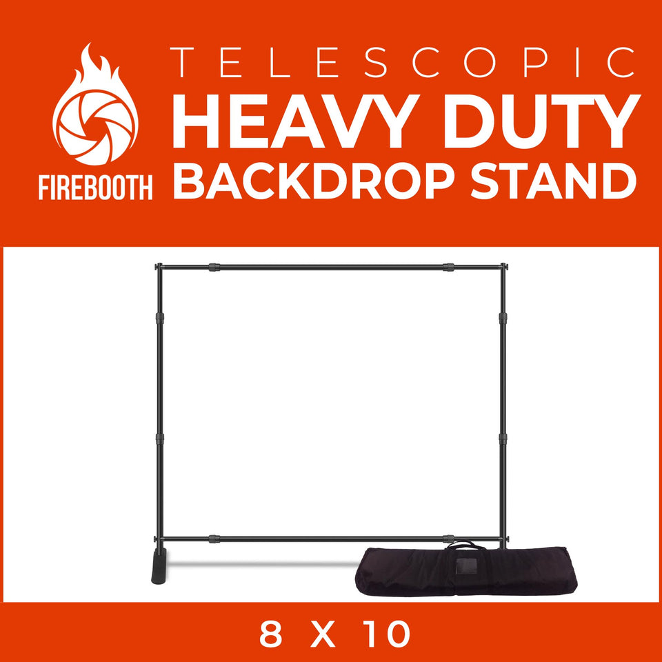 8x10 Feet Adjustable Telescopic Photo Booth Backdrop Stand