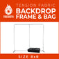 8x8 Tension Fabric Photo Booth Backdrop Frame