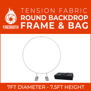 Round Tension Fabric Photo Booth Backdrop Frame