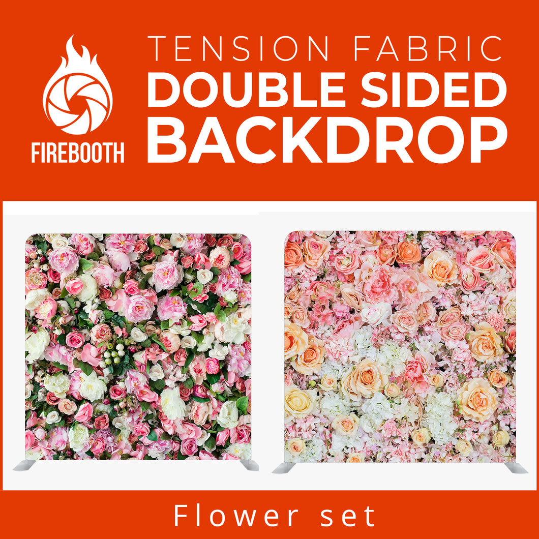 Flower Set4 Double Sided Tension Fabric Photo Booth Backdrop