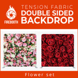 Flower Set5 Double Sided Tension Fabric Photo Booth Backdrop