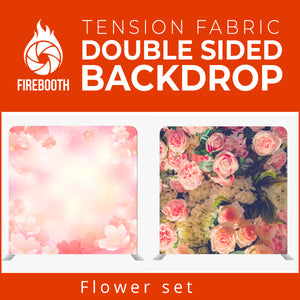Flower Set8 Double Sided Tension Fabric Photo Booth Backdrop