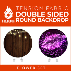 Flower Set-39 Double Sided Round Tension Fabric Photo Booth Backdrop