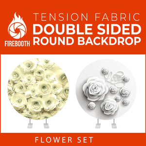 Flower Set-43 Double Sided Round Tension Fabric Photo Booth Backdrop