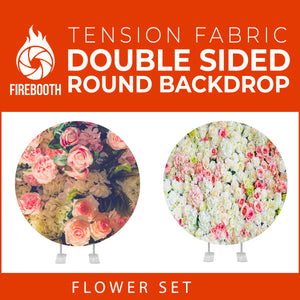 Flower Set-48 Double Sided Round Tension Fabric Photo Booth Backdrop