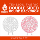 Flower Set-21 Double Sided Round Tension Fabric Photo Booth Backdrop