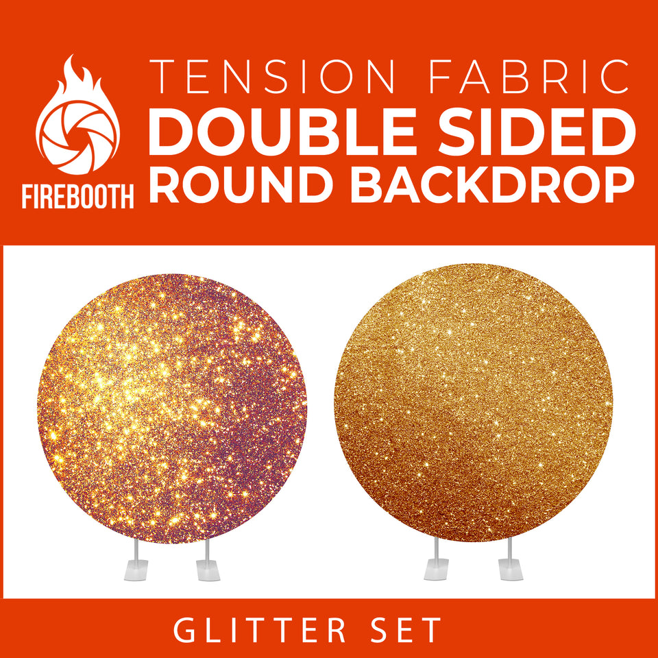 Glitter Set-10 Double Sided Round Tension Fabric Photo Booth Backdrop