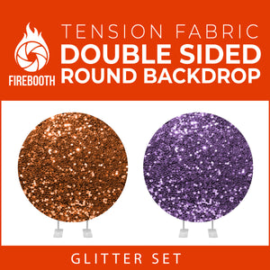 Glitter Set-13 Double Sided Round Tension Fabric Photo Booth Backdrop