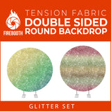 Glitter Set-14 Double Sided Round Tension Fabric Photo Booth Backdrop