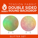 Glitter Set-15 Double Sided Round Tension Fabric Photo Booth Backdrop