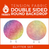 Glitter Set-17 Double Sided Round Tension Fabric Photo Booth Backdrop