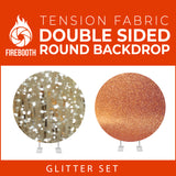 Glitter Set-22 Double Sided Round Tension Fabric Photo Booth Backdrop