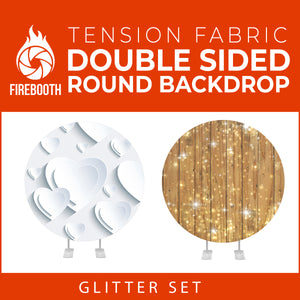 Glitter Set-23 Double Sided Round Tension Fabric Photo Booth Backdrop
