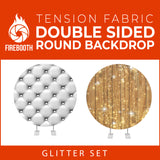 Glitter Set-24 Double Sided Round Tension Fabric Photo Booth Backdrop