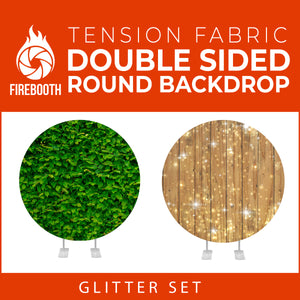 Glitter Set-25 Double Sided Round Tension Fabric Photo Booth Backdrop