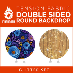 Glitter Set-26 Double Sided Round Tension Fabric Photo Booth Backdrop