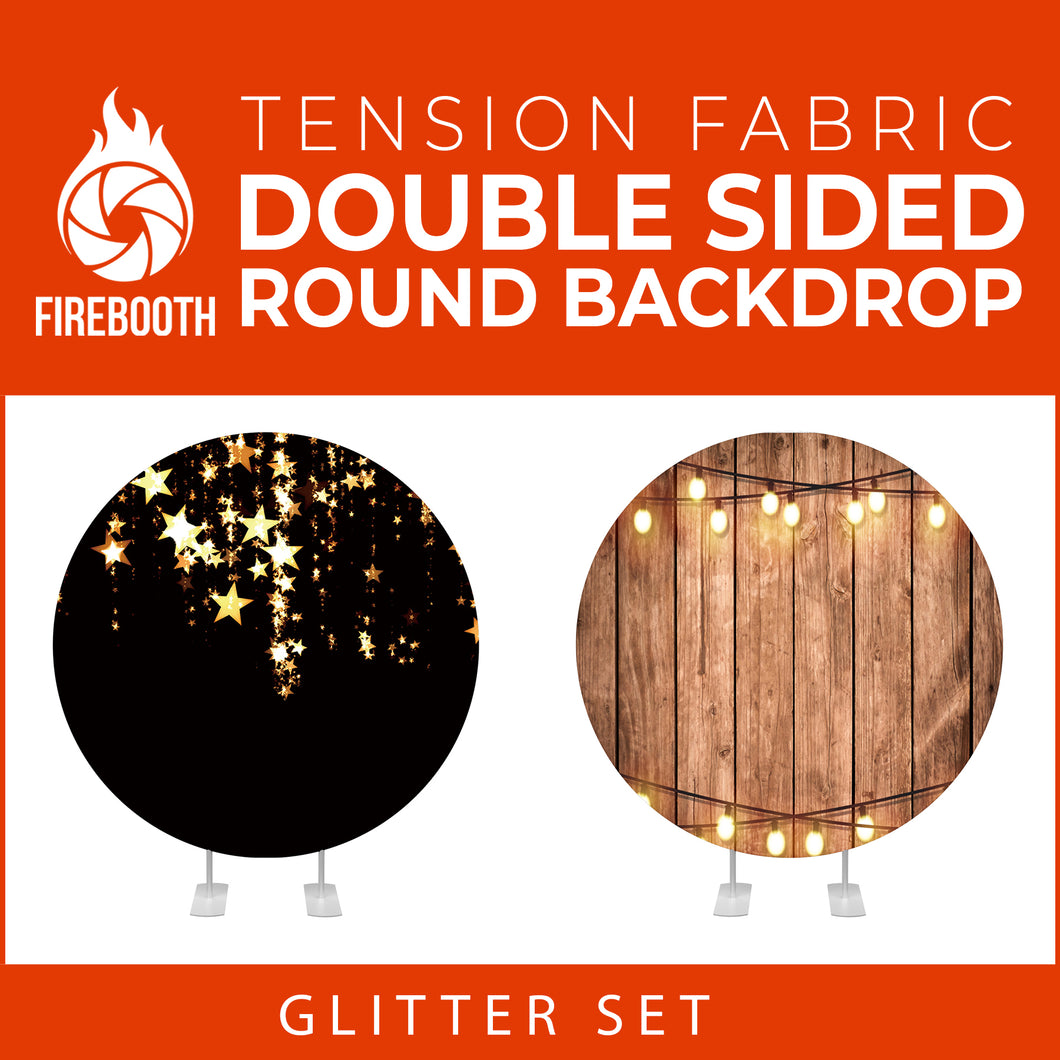 Glitter Set-29 Double Sided Round Tension Fabric Photo Booth Backdrop