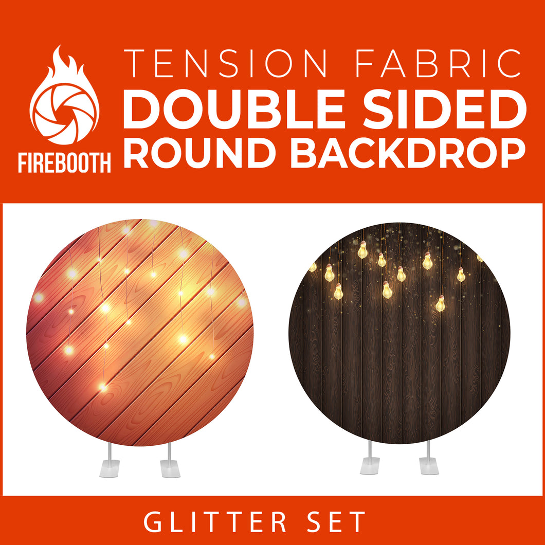 Glitter Set-35 Double Sided Round Tension Fabric Photo Booth Backdrop